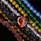 Colorful Crystal Glass Faceted Heart Loose Bead fit Necklace Bracelet HOT Strand