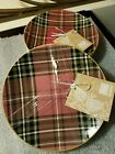 222 FIFTH Wexford Tartan Plaid Holiday Appetizer Dessert Plate Set of 8 -  NWT
