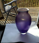 Josh Simpson Early Purple Iridescent Trade Show Vase 1985 Signed Mint