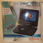 Craig CTFT716n  7-Inch Portable DVD/CD Player with Remote, Black