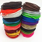 3M Man made Leather Braid Rope Cord Jewelry Bracelet Making String 3mm