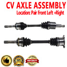 Pair Front CV Axle Shaft for CHEVROLET TRACKER 99 04 4WD