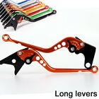For KTM 640 LC4 Adventure 640 1999-2002 2001 00 Long brake clutch levers Orange