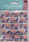 Jolees FOURTH OF JULY variety themed embellishment stickers BNIP CUTE