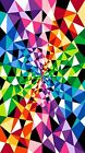 Colorworks Concepts Triangles By the Panel Cotton Fabric by Northcott