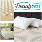 Beautyrest Mattress Pad Queen Convoluted Foam Mattress Topper King Size Bedding
