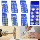 10x Diamond Cutting Wheel Disc Saw Blade Grinder Rotary With 2 Mandrels 18-60mm