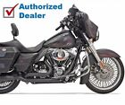 New Bassani Black True Dual Down Under Exhaust Head Pipes Headers Harley Touring