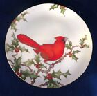 Fitz and Floyd Christmas Holly Cardinal Plate - Style 4