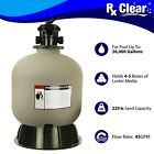 Rx Clear Radiant 22 Inch Above Ground Swimming Pool Sand Filter w 6 Way Valve