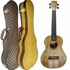 Alida Spalted Maple Tenor Acoustic Electric Ukulele Hard Case Tuner High Gloss