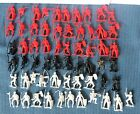 61 Knights Plastic - Red, Black, White - 1990's? - Lot of 61