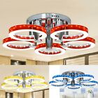New Round Acrylic Chandelier Ceiling Light 29 5 LED Pendant Lamp Bedroom Home