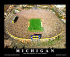 U Michigan Football Stadium THE BIG HOUSE AT ANN ARBOR Aerial View POSTER Print