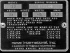 AMI / Rowe TI2 # 872266 serial number identification plate