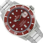 Rolex Men's Submariner  Stainless Steel 40mm Diamond Red Dial - Pre-Owned