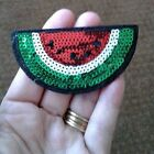 Watermelon Fruit Summer Picnic Sequined Iron On Applique Patch