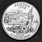 2008 - P  Arizona, State Quarter - Uncirculated from Bank Wrapped Roll Clad