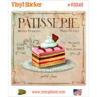 Patisserie Petit Four Vinyl Sticker Vintage Style Dessert Laptop Bumper Decal