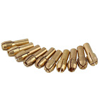 Paor 10 Pcs 4.3mm Shank 0.5-3.2mm Brass Collet Drill Chuck Fits Dremel Rotary To
