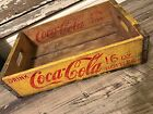 Vintage 1966 Coke Coca Cola 16oz Wood Soda Crate