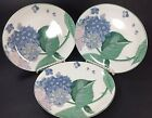 3 Larry Laslo Collection Sango Southampton Lunch Salad Plates Hydrangea Floral