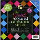 DCWV Cardstock Stack Textured Jewel Colored 58 Sheets 12 x 12 inches