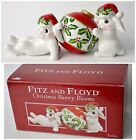 Fitz and Floyd Christmas Bunny Blooms in Box 4