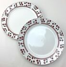 Oneida Cherries Jubilee Dinner Plates Leslie Beck Majesticware  Stoneware (2) #A
