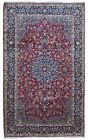 Semi-Antique Blue and Red Persian Very Fine Isfahan Oriental Large Area Rug 7X12