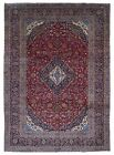 Semi-Antique Red and Black Persian Very Fine Kashan Oriental Large Rug 10X14