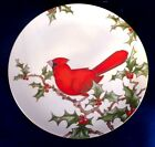 Fitz and Floyd Christmas Holly Cardinal Plate - Style 3