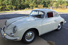 1961 Porsche 356 356B Sunroof Coupe 1961 Porsche 356B Reutter Sunroof Coupe Heron Grey Red