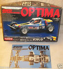 Vintage 1986 Kyosho Optima chain drive R/C 3032 Box only + graphic chassis card
