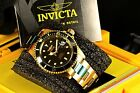Invicta Men's Pro Diver Coin Edge 18k Gold Tone Automatic NH35A Black Dial Watch