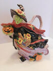 Rare! Fitz and Floyd Halloween Harvest Large Witch Pitcher 1995
