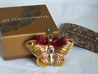 NEW Jay Strongwater Butterfly Glitter Glass Holiday Ornament