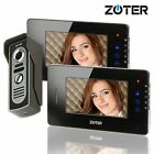 ZOTER 7 LCD Touch Key Video Door Bell Phone Intercom Metal Camera 2x Monitor