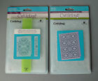 Lot of 2 5 x 7 Cuttlebug Embossing Folders Mary Ann Nathaniels Penwork