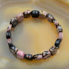 Natural Gemstone Beads Stretch Bangle Bracelet Crystal Amethyst Agate