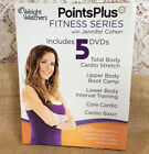 Weight Watchers Points Plus Fitness Series 5 DVDs Jennifer Cohen Body Boot Camp
