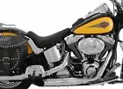 New Mustang RunAround Low Profile Solo Seat Black 2000 2006 Harley Softail 76885