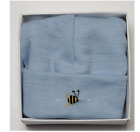 NEW DIMPLES: MERINO PASTEL MARL BEANIE GIFT BOX BLUE SMALL 06-12 MONTHS SOFT