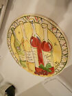 JULIA JUNKIN ENJOY THE LIFE YOU LIVE FLAT SERVING PLATE-11 3/4