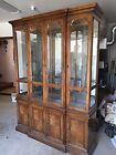 DREXEL TRYON MANOR 2 piece China Cabinet Mirrored Curio Breakfront