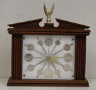 Vintage Cherry Wood Clock With United States Silver Coin Dial 90