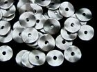 50 Pcs Antique Silver Doughnut Style Spacer Beads Jewellery Craft Beading F265