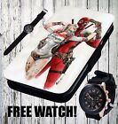Harley Quinn Dead Pool Comic Love Pin Up - Flip Wallet Leather Phone Case Cover