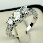 Hi Wedding Bride 10K Gold Filled White Sapphire Ring Size 6 9 Engagement Jewelry