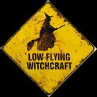 Low Flying Witchcraft Wicked Witch Fall Autumn Halloween Pumpkin Press Wood Sign